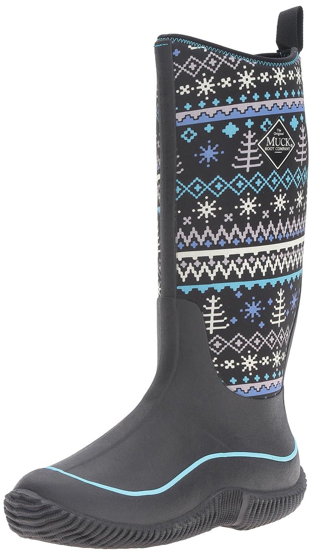 MuckBoots Women's Hale Plaid Boot B00TSUGTJ4 10 B(M) US|Black Winter Knit