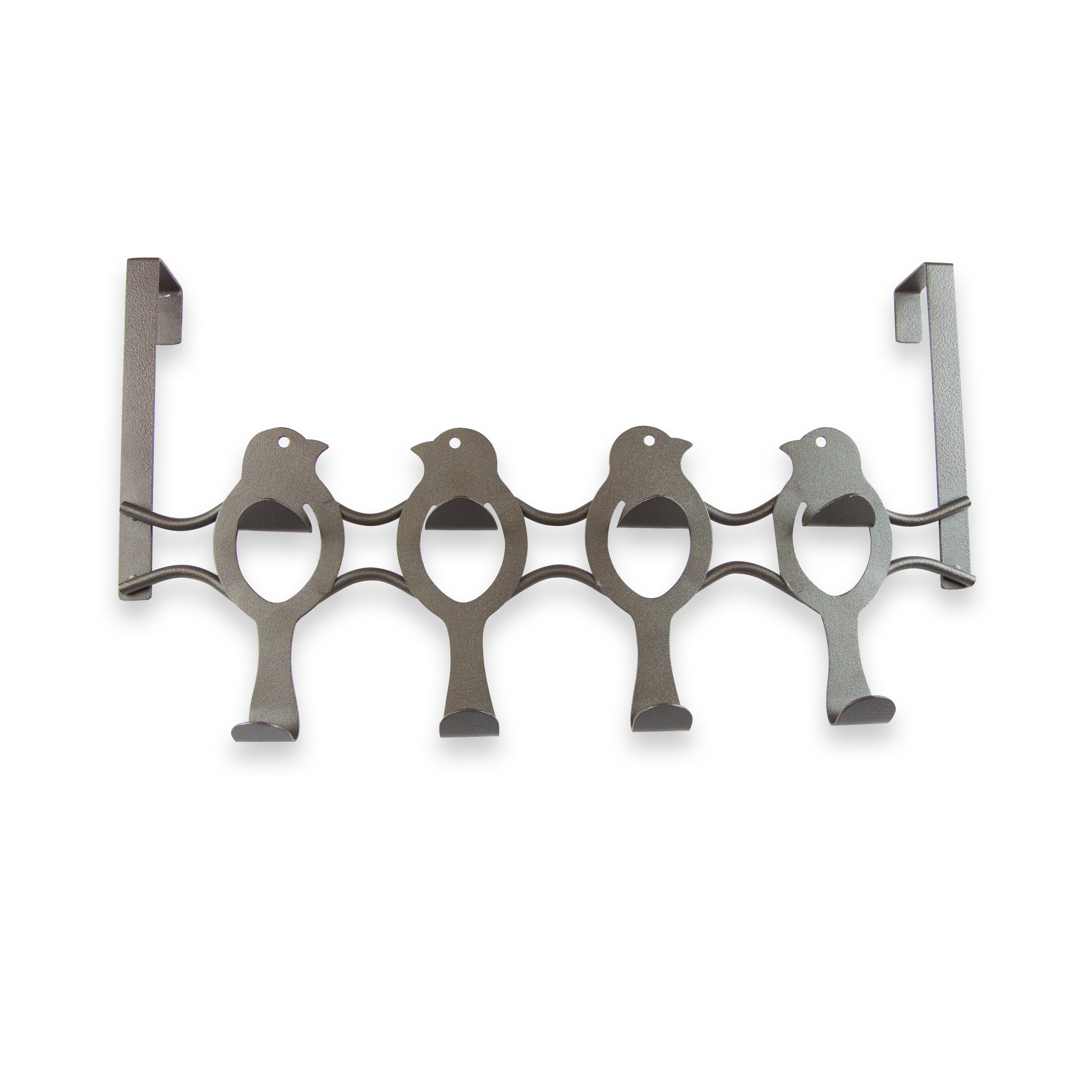 A&F Rod Decor - Over the Door Bird Organizer Hooks - 8 Hooks, Bronze by A&F Rod Décor