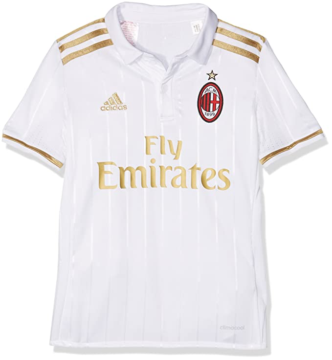 885d83c554af adidas Boy s AC Milan A Jsy Y T-Shirt  Amazon.co.uk  Sports   Outdoors