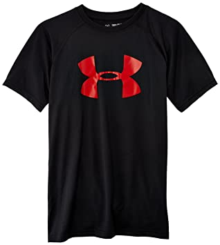Amazon.com: Under Armour Boys' Tech Big Logo Short Sleeve T-Shirt ...