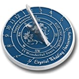 Looking For The Best 50th Golden Wedding Anniversary Gift? This Unique Sundial Gift Idea Is A Great Present For Him, For Her Or For A Couple To Celebrate 50 Years Of Marriage