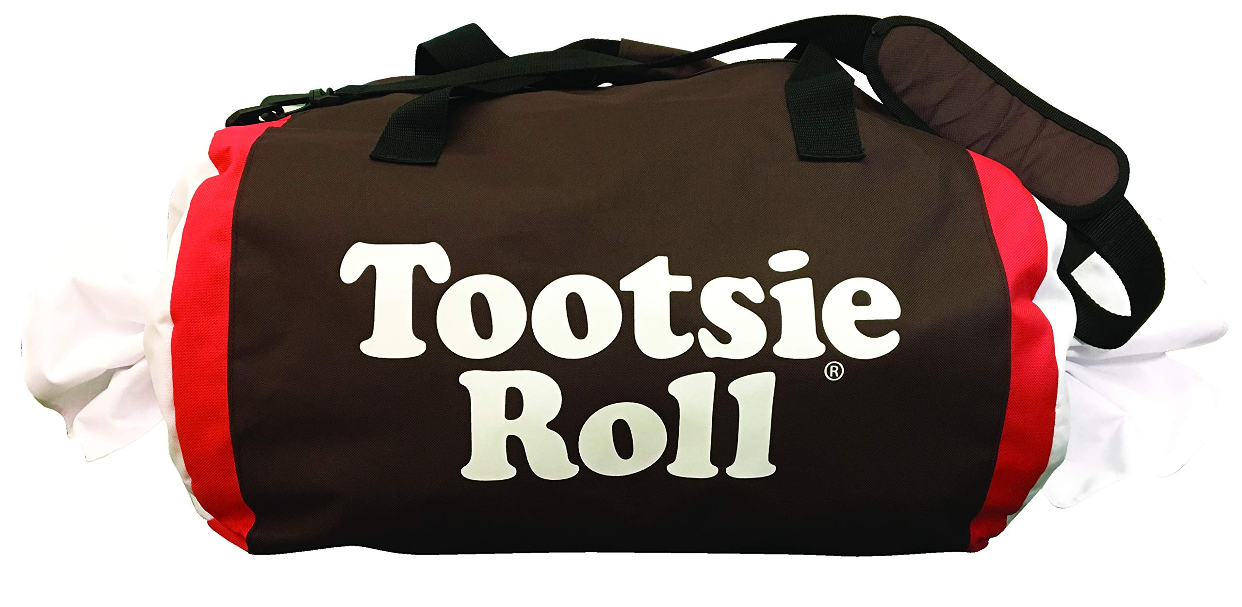 Tootsie Roll Candy Fun Duffle Overnighter & Weekender Duffel Bag, 15.5'' x 13'' x 7'', Girls Boys Adult