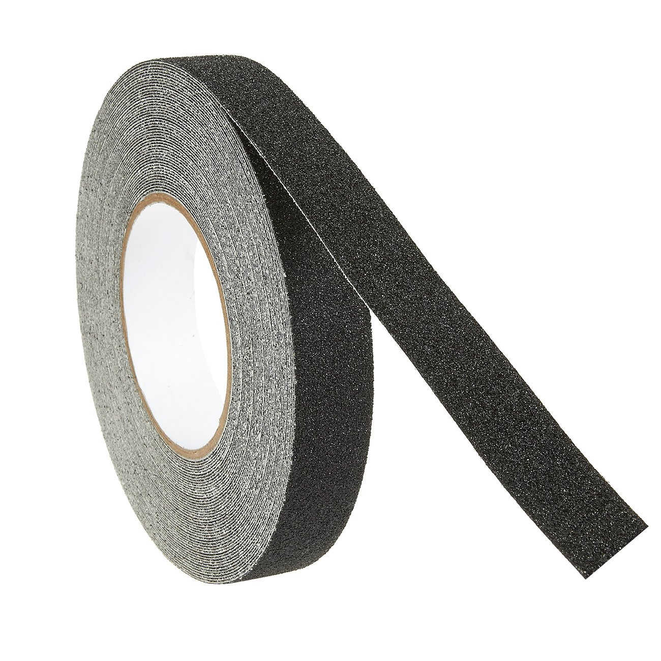 1 Piece Anti-Slip Safety Grip Grit Tape - Black Adhesive Non-Skid Traction Tape for Construction, Safety - 1 inch x 60 feet