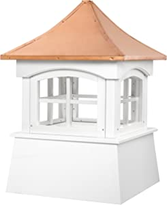 Good Directions 2118WV Windsor PVC Vinyl Cupola with Polished Copper Roof, 18-Inch x 25-Inch
