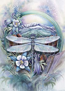 Toland Home Garden 1112332 Lavender Dragonfly 12.5 x 18 Inch Decorative, Garden Flag