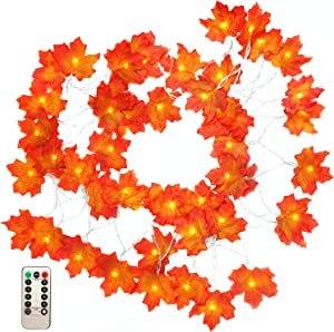 Win A Free Thanksgiving Decorations Fall Maple Leaf Garland 16.5 Feet...
