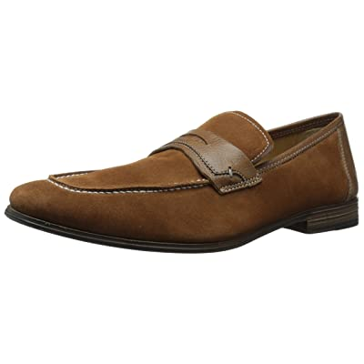 Kenneth Cole New York Men's Push Forwad, Cognac, 7 M US | Loafers & Slip-Ons