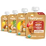 Happy Baby Organics Nutty Blends, 4 Flavor Variety Pack, 3 Ounce Pouch (Pack of 8)