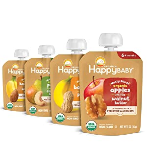 Happy Baby Organics Nutty Blends Butter, Variety Pack (8 Count)