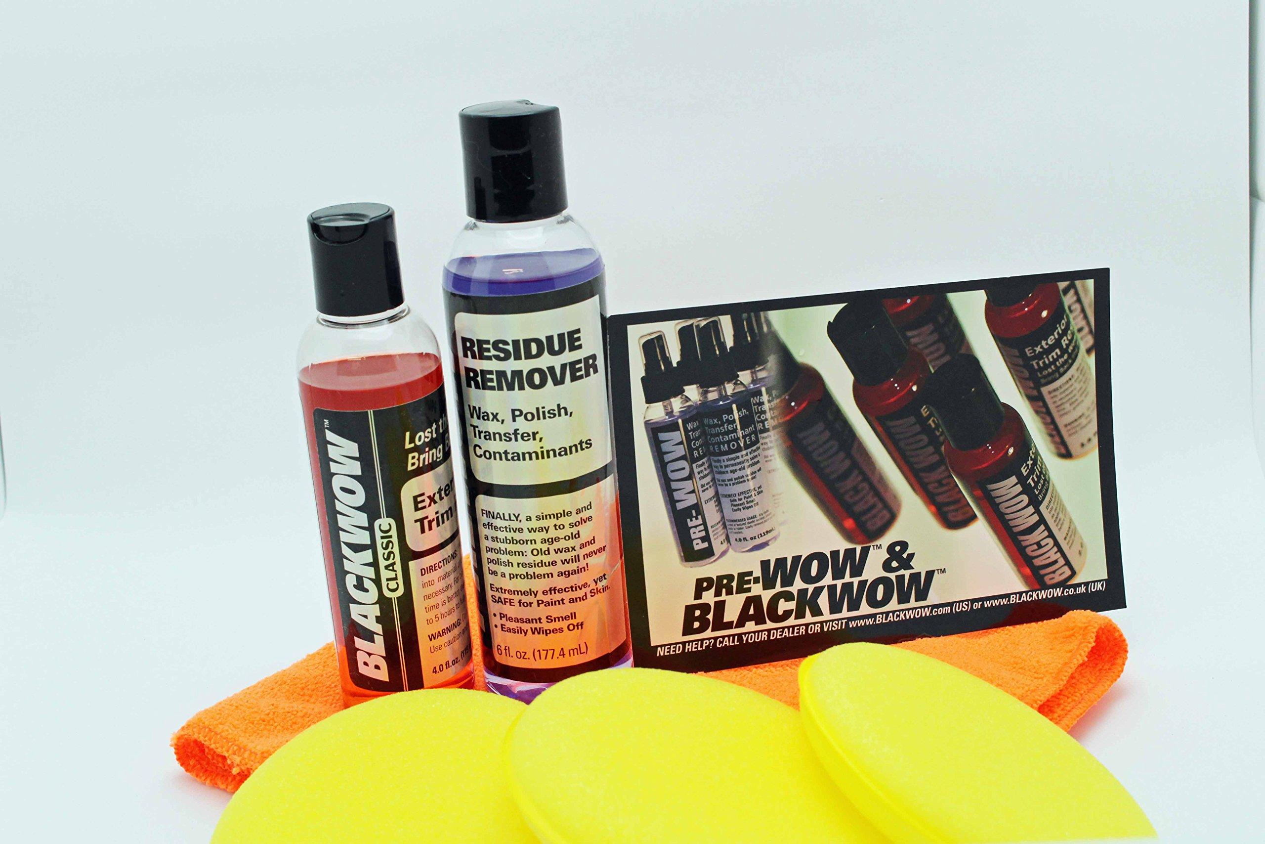BLACK WOW & PRE WOW Auto Plastic Exterior Cleaner & Restorer Detailbest SuperSize Kit
