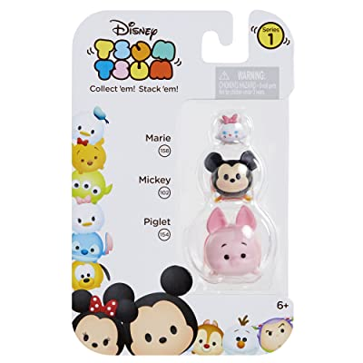Tsum Tsum 3-Pack Figures: Piglet/Mickey/Marie: Toys & Games