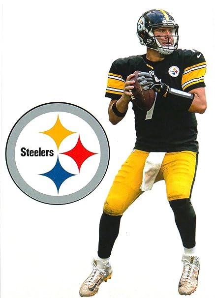 c1a36b198 Amazon.com  FATHEAD Ben Roethlisberger Mini Pittsburgh Steelers Logo  Official NFL Vinyl Wall Graphics 7