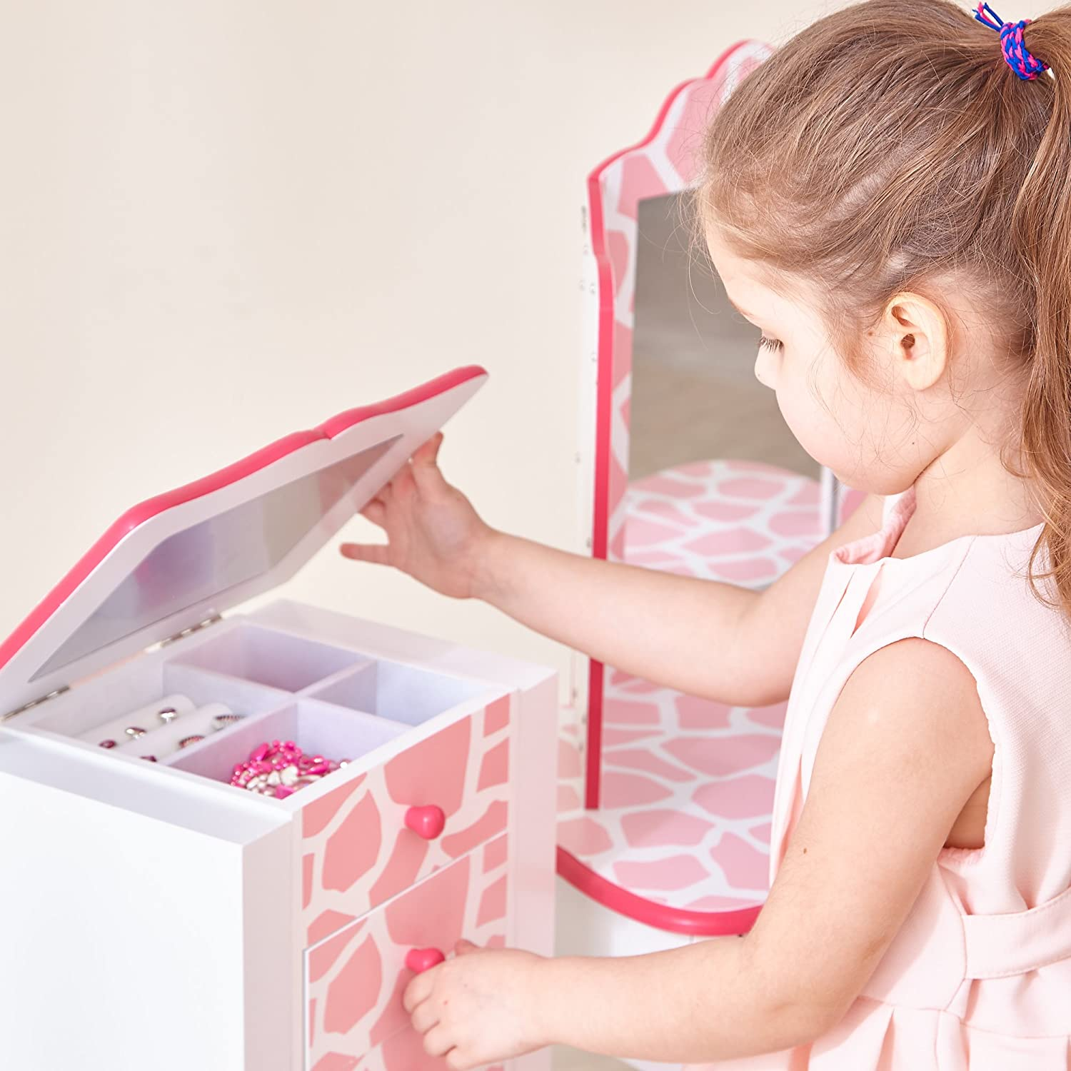 Amazoncom Teamson Kids Fashion Prints Jewelry Armoire with