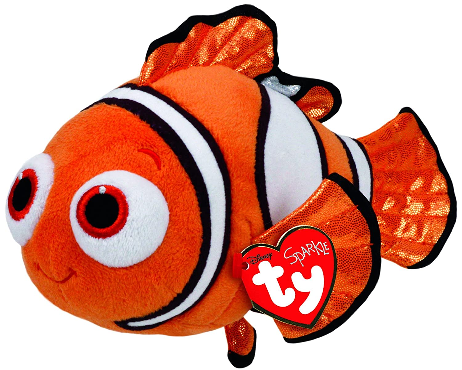 Amazon.com: Ty Beanie Babies Finding Dory Nemo Regular Plush: Toys ...