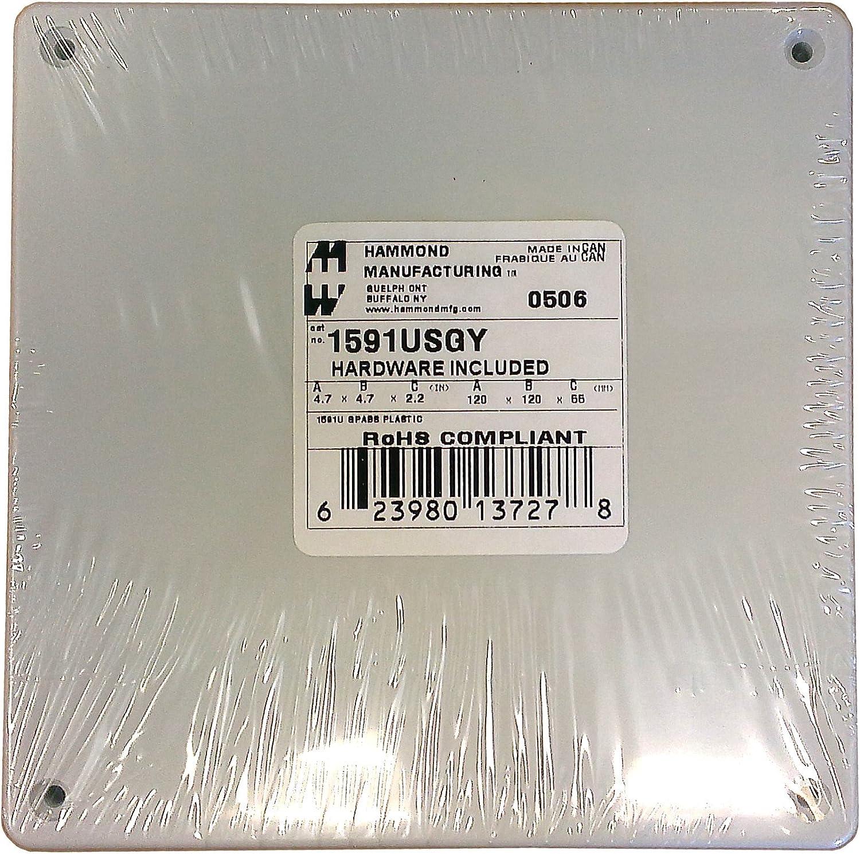 Grey 1591BSGY Multipurpose Abs Hammond Enclosure