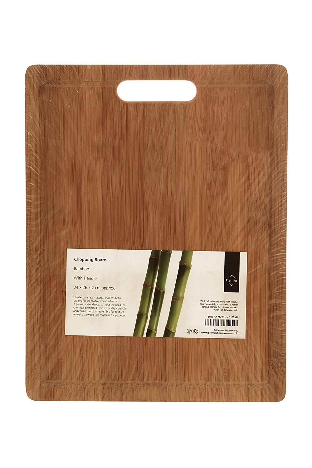 The item for sale is premier set of 5 coloured flexible chopping - Premier Housewares Chopping Board With Handle 34 X 26 Cm Bamboo Amazon Co Uk Kitchen Home