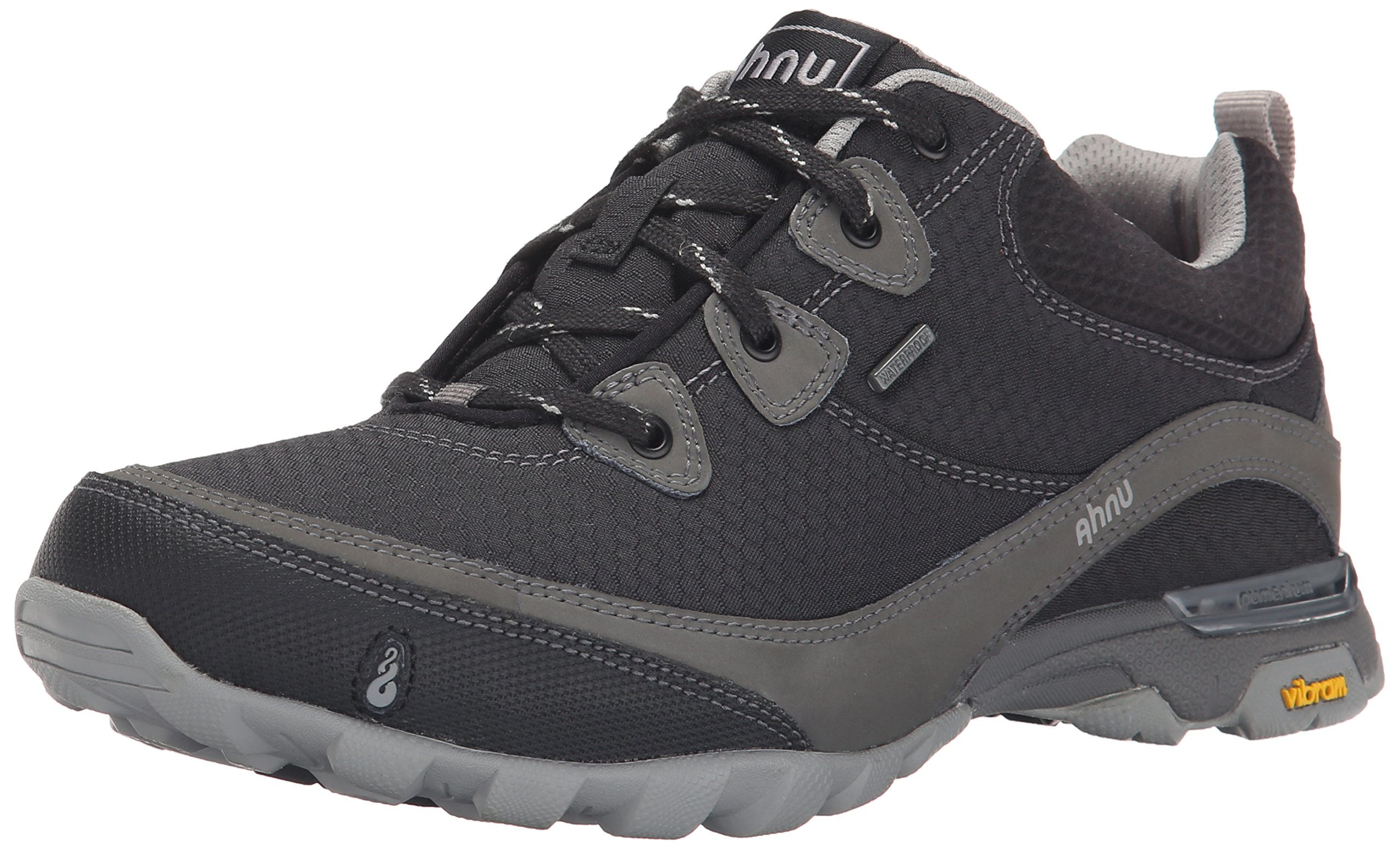 Ahnu Women's Sugarpine Waterproof Hiking Shoe, New Black, 6 M US
