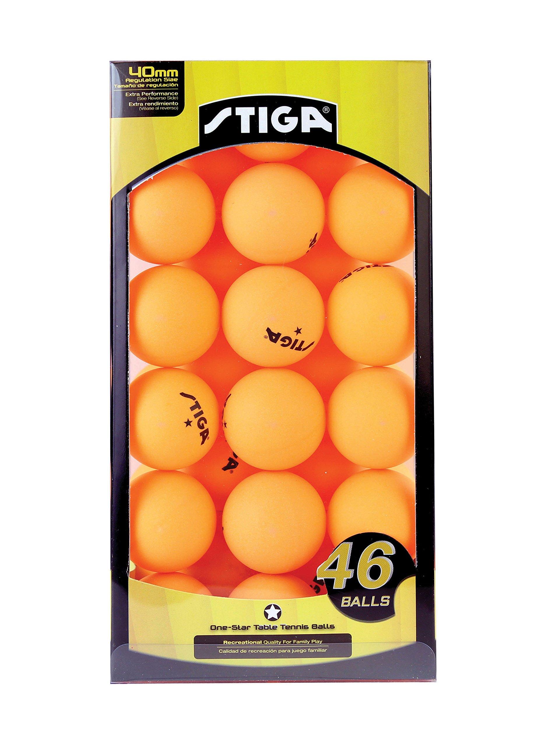 STIGA Table Tennis Balls (46-Pack), Orange, 46-Pack