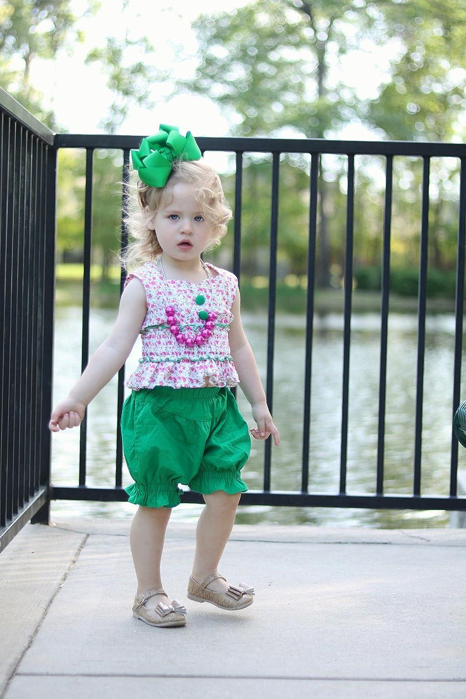LELEFORKIDS Laura Lynn Ruffled Bloomer Short Set Toddlers and Girls 2-7//8