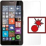 "2 x Slabo Panzerschutzfolie Microsoft Lumia 640 / Lumia 640 Dual-SIM Panzerfolie Displayschutzfolie Schutzfolie Folie ""Shockproof|Stoßfest"" unsichtbar MADE IN GERMANY"