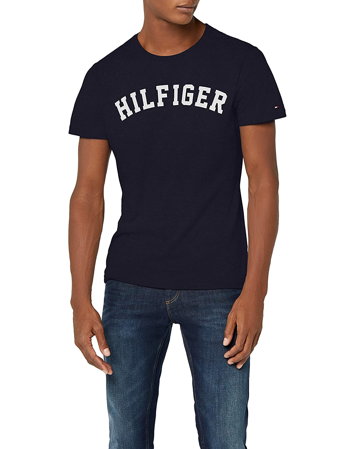 a52c3143 Tommy Hilfiger Men's SS Tee Logo T-shirt: Tommy Hilfiger: Amazon.co.uk:  Clothing