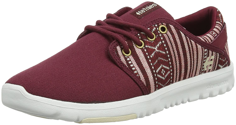 Etnies Womens Scout Sneaker B01MZCYJVU 8.5 B(M) US|Burgundy/Tan
