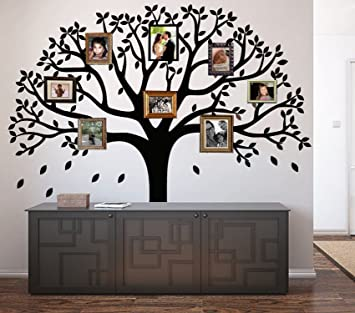 Charmant LUCKKYY Large Family Photo Tree Wall Decor Wall Sticker Tree Branch Family  Like Branches On A