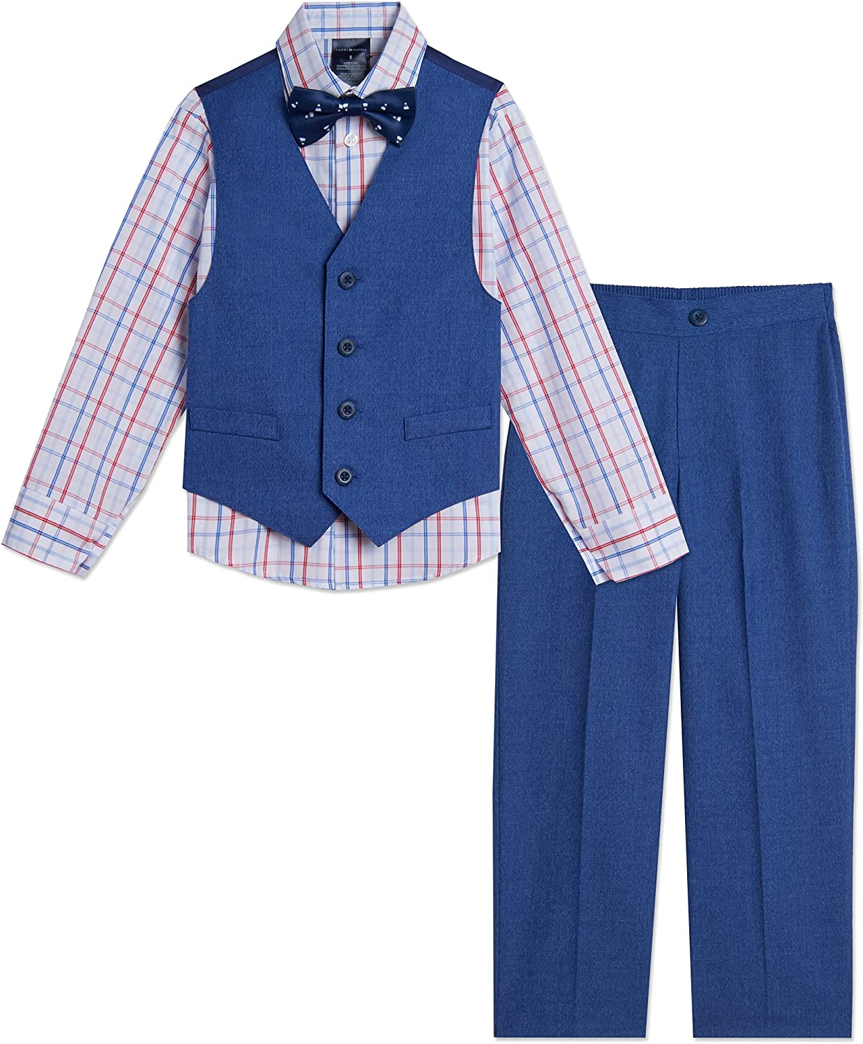 Tommy Hilfiger Max 49% OFF Boys 4-Piece Formal Suit San Francisco Mall Set Shir Dress Includes