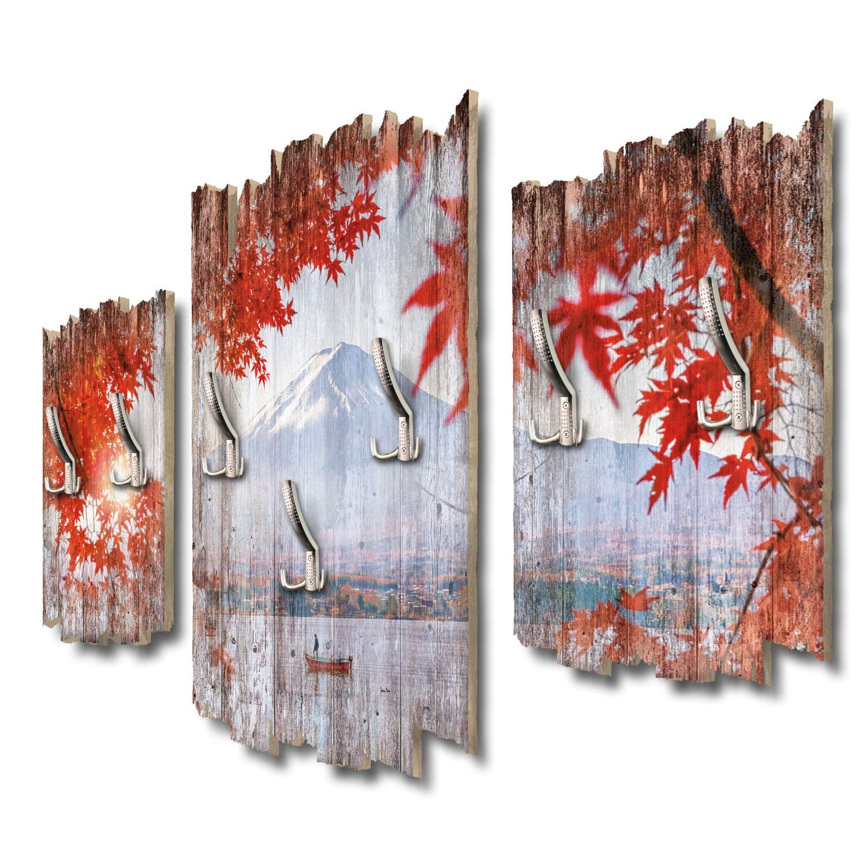 Kreative Feder Berg Fuji Designer Wandgarderobe Flurgarderobe Wandpaneele 95 x 60 cm aus MDF DTGH046