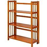 "Casual Home 3-Shelf Folding Stackable Bookcase (27.5"" Wide)-Honey Oak"