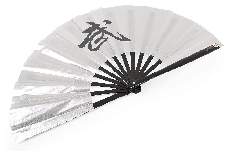 Éventail Tai Chi (Tai Ji Shan) «Wu» - Droitier, Argent ShenLong