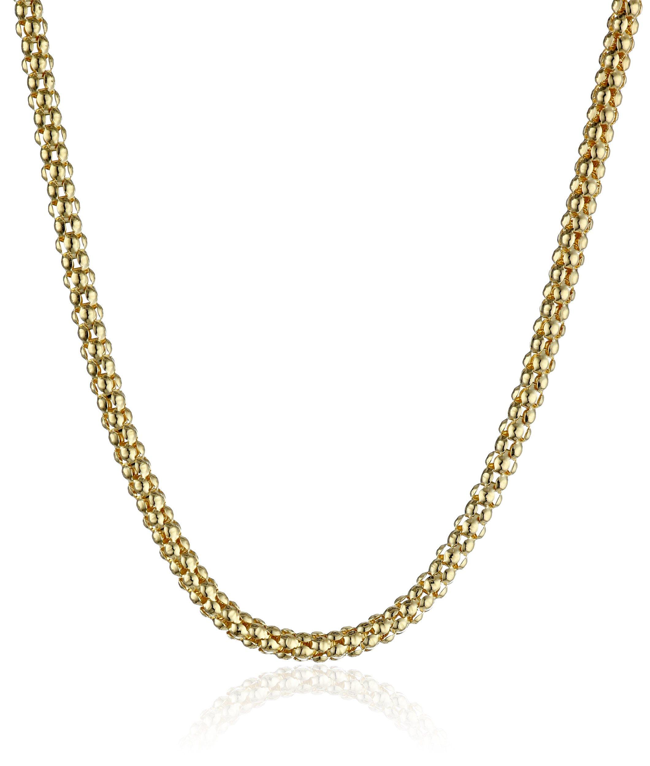 14k Yellow Gold Italian 2.50mm Popcorn-Chain Necklace, 18''