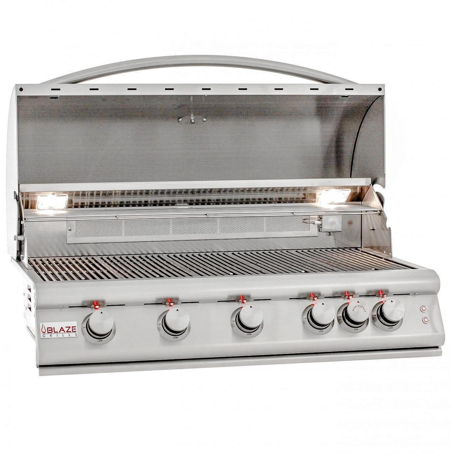 Blaze Lte 40-inch 5-burner Built-in Natural Gas Grill With Rear Infrared Burner & Grill Lights - Blz-5lte2-ng by Blaze Outdoor Products