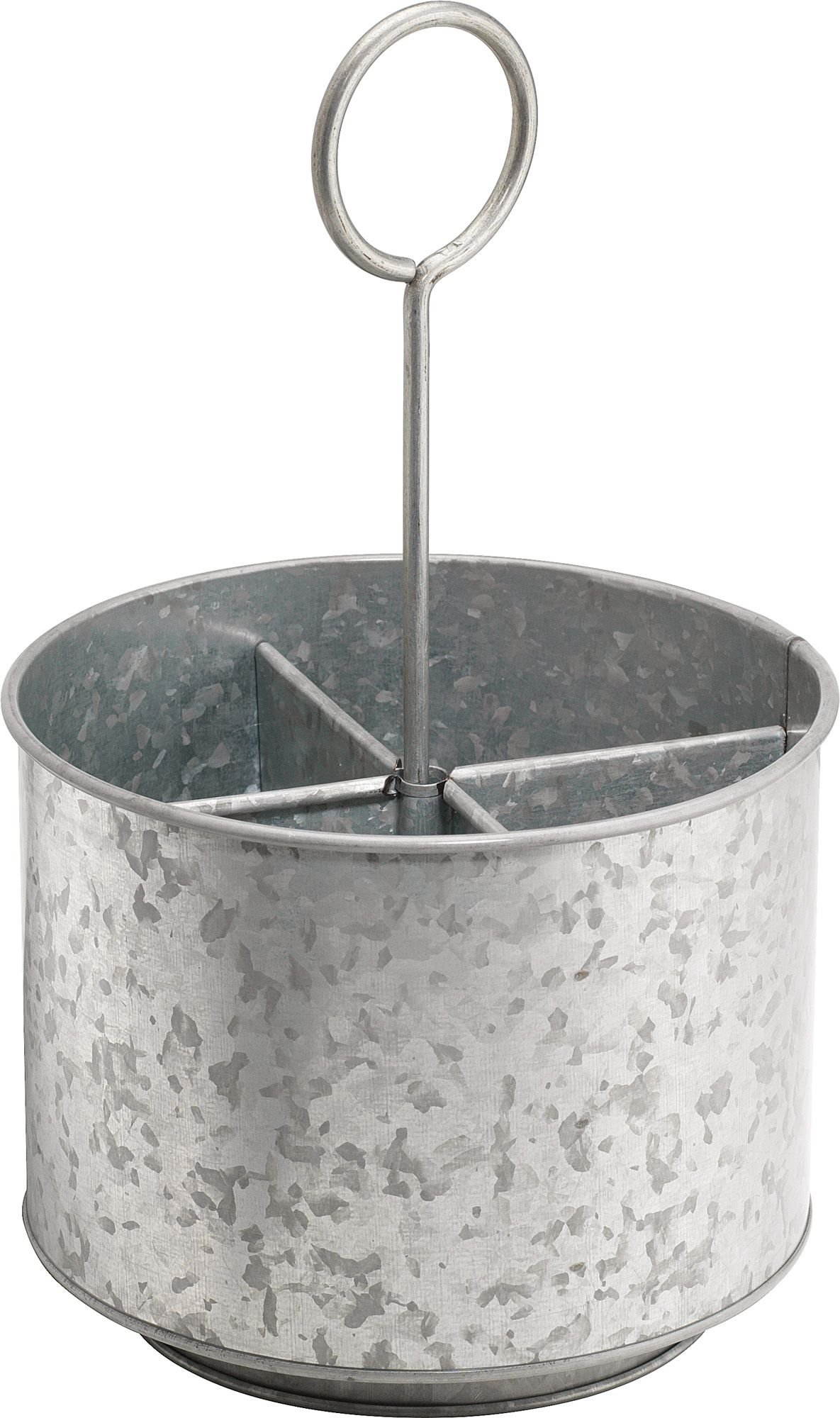 KOVOT Galvanized Rotating Utensil Caddy & Organizer | Rustic & Country Style Decor | Measures 7.5'' x 7.5'' x 12.5''H by Kovot (Image #1)