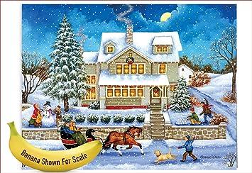 Amazon Com J5080jxtg Jumbo Christmas Thank You Card Old Town
