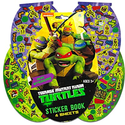TMNT Teenage Mutant Ninja Turtles Sticker Pad- 276 Stickers!: Toys & Games