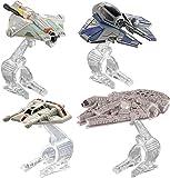 Hot Wheels – Star Wars – Vehículos de Héroes – Pack 4 Naves Miniatura DieCast