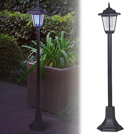 Lámpara de jardín que funciona con energía solar, farola LED exterior, para el acceso vehicular, entrada de la casa., negro: Amazon.es: Jardín
