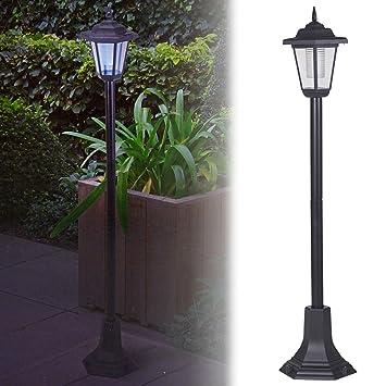 Lámpara de jardín Que Funciona con energía Solar, farola LED Exterior, para el Acceso vehicular, Entrada de la casa, Negro: Amazon.es: Jardín