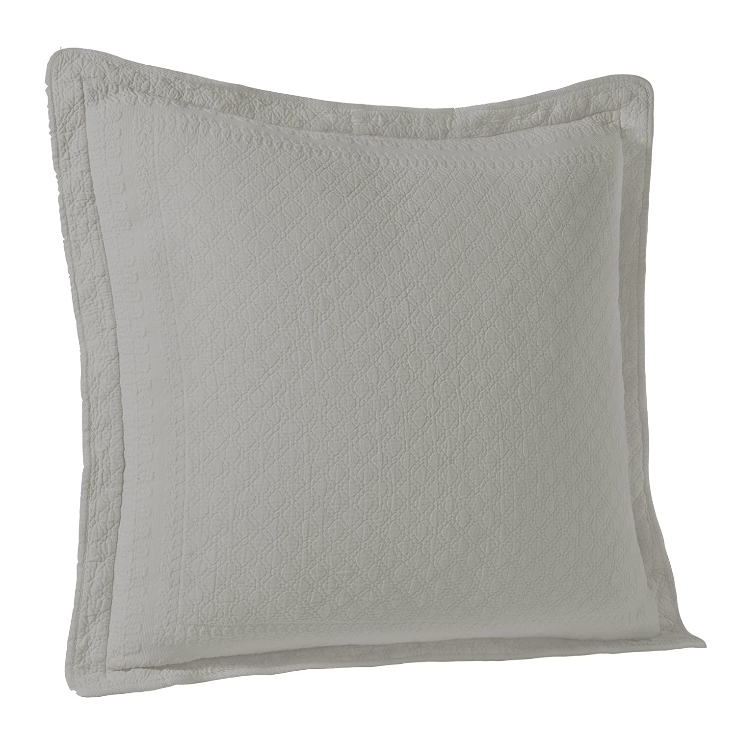 """Grey Standard Size Pillow cover 20/""""x26/""""+0.5/"""" flange Elegant Life 100/% Cotton Night Blossom Floral Pattern Embroidery Pillow Shams"""