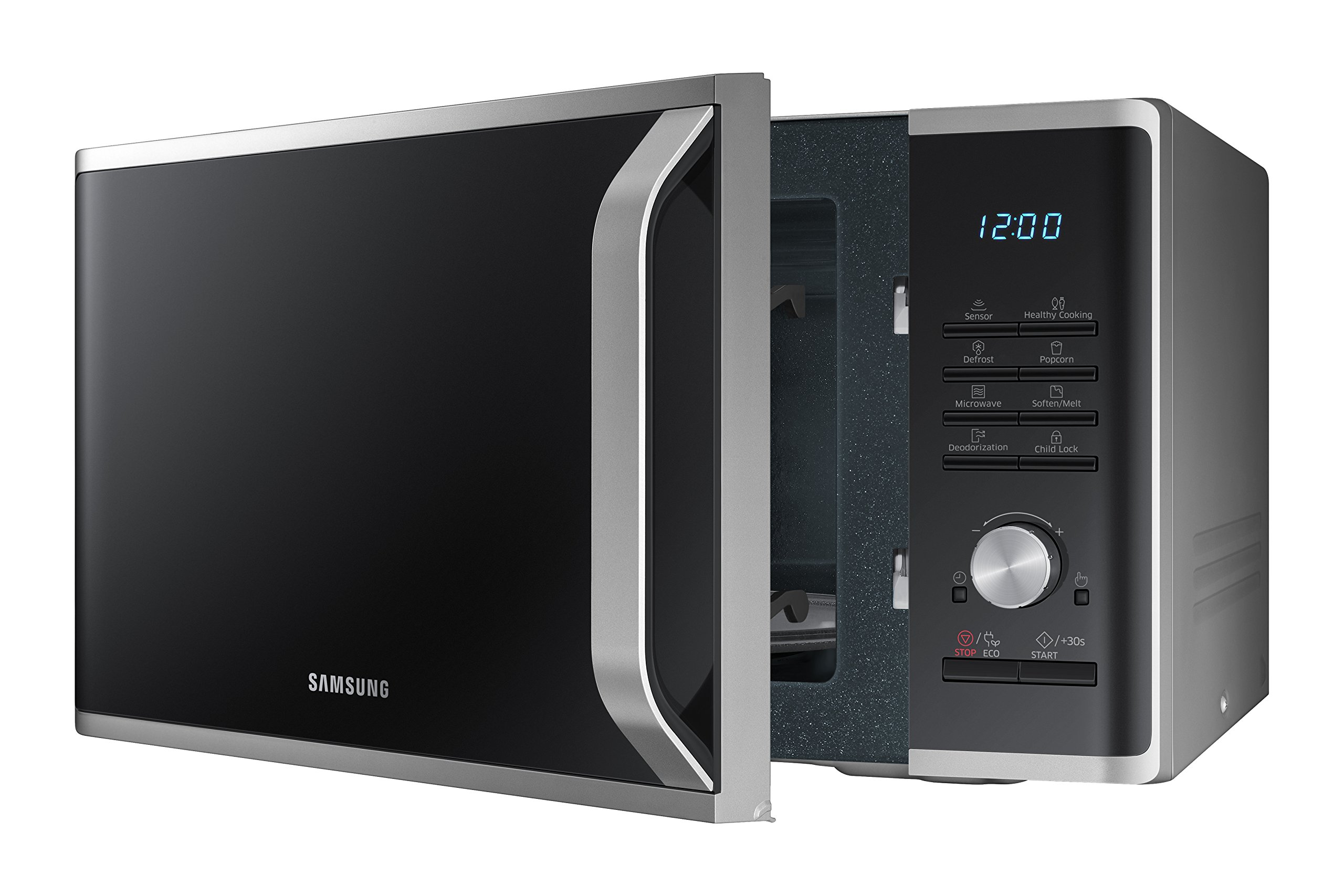 Samsung MS11K3000AS 1.1 cu. ft. Countertop Microwave Oven with Sensor and Ceramic Enamel Interior, Silver Sand by Samsung (Image #4)