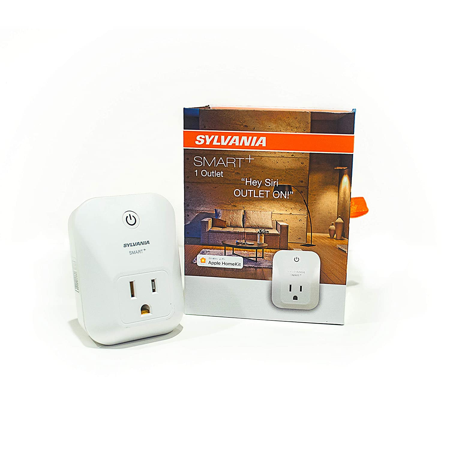 SYLVANIA SMART+ Apple HomeKit Smart Plug, Works with Siri Voice Control, No Hub Required for Set up