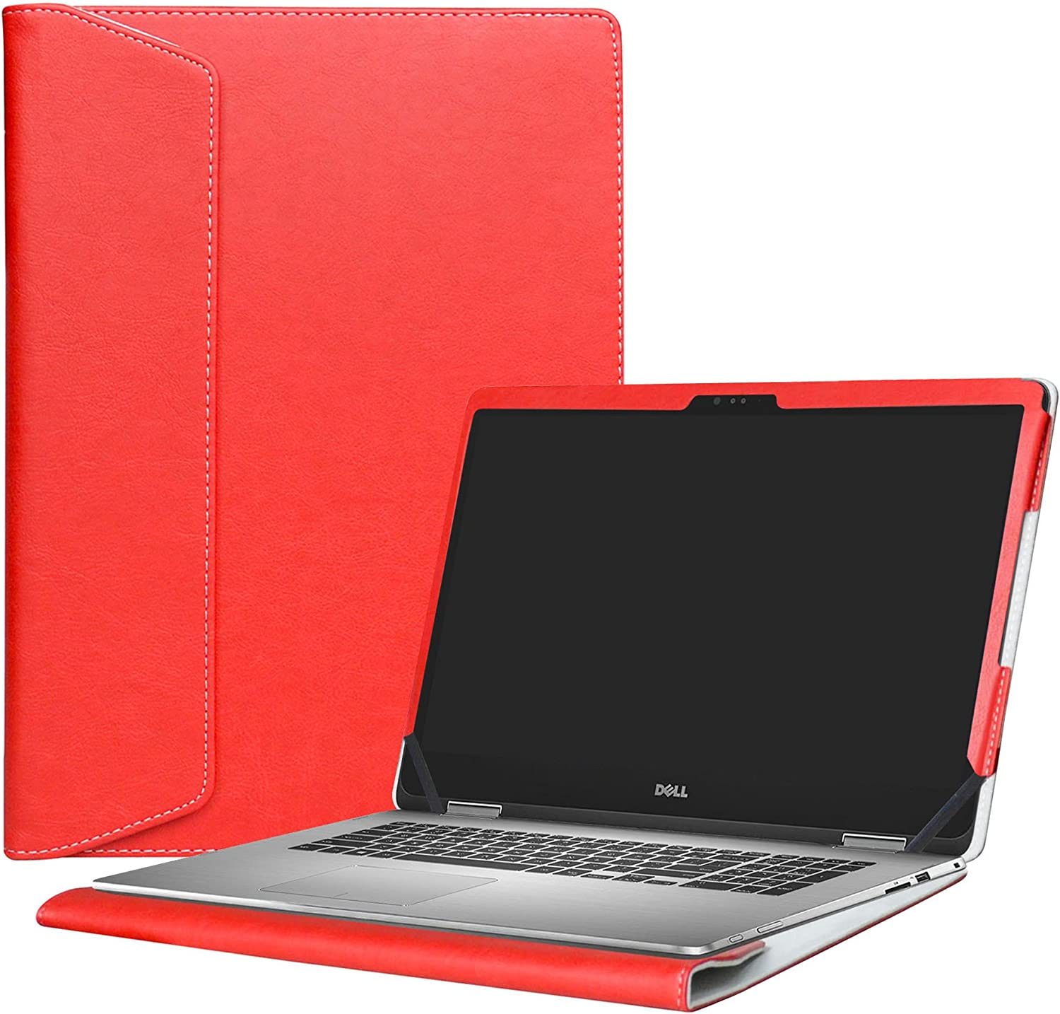 "Alapmk Protective Case Cover For 15.6"" Dell Inspiron 15 2-in-1 7573 i7573 & Inspiron 15 i7570 i7580 7570 7580 Laptop(Warning:Only fit model 7573 7570),Red"