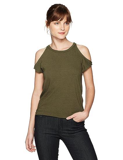 c95b23a466227 Amazon.com  Pam   Gela Women s Cold Shoulder Tee  Clothing
