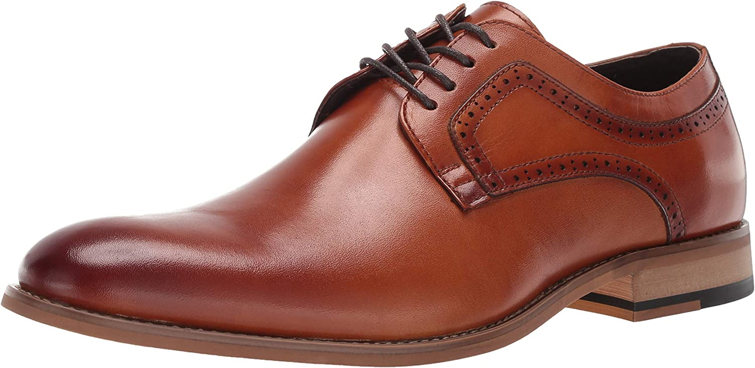 STACY ADAMS Men's Dickens Plain Toe Lace-up Oxford