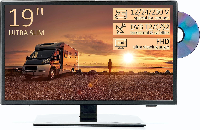 "8"" HD LED Fernseher für Wohnmobile, Ultra Slim Design - DVD/USB/Ci+/Hdmi -  8/8/8 V - DVB-T8/S8/C - Vesa Anschluss"