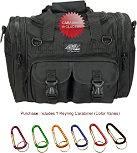 "Nexpak USA TF115 Small 15"" Inch Waterproof Tactical Molle Range Duffel Duffle Bag Hiking 1600 Cu in + Key Ring Carabiner"