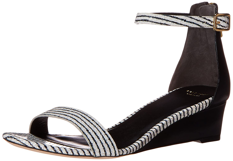 Cole Haan Women's Rossi Wedge Sandal B00OQU5C80 8.5 B(M) US|Black/Optic White Snake Print