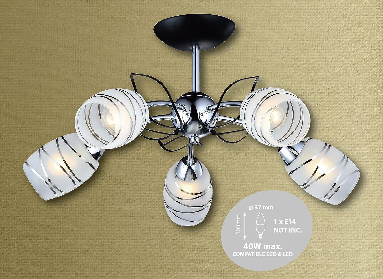 Cinco Head Base redonda para lámpara de techo de hojas de ...