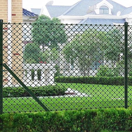 tidyard Malla de Alambre con Postes y Todos Los Accesorios,Valla de Jardín,Decoración Protección para Hogar y Propiedad,PVC Verde 1,25x15M: Amazon.es: Hogar